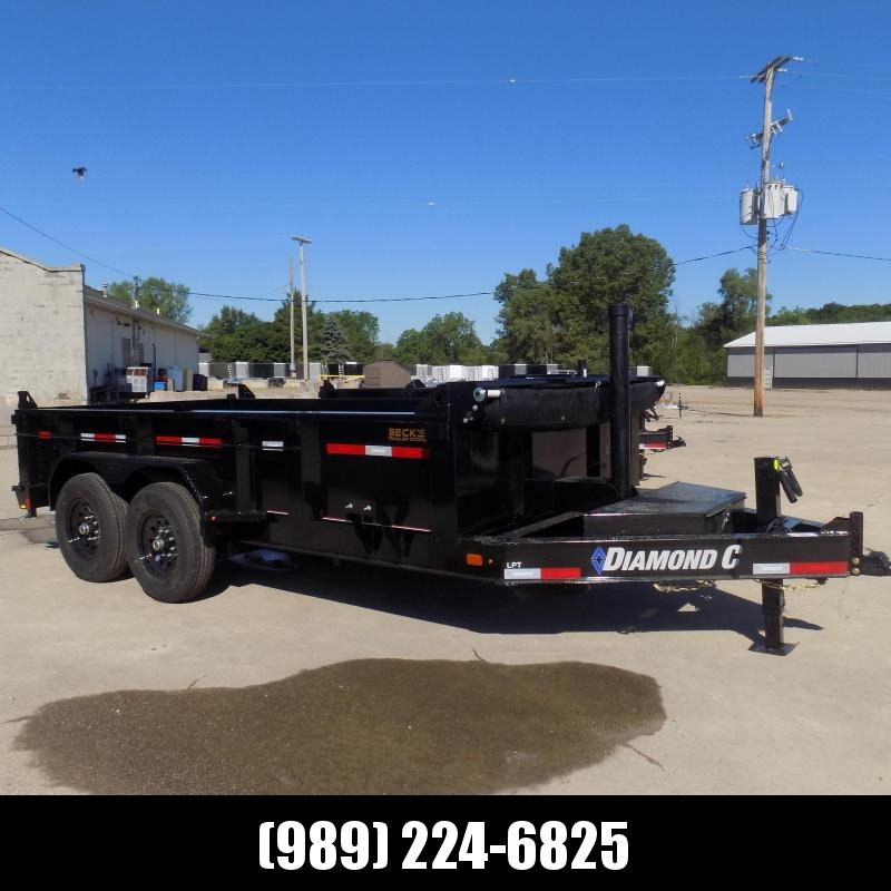 """New Diamond C 82"""" x 14' Low Profile Dump Trailer - $0 Down & payments From $173/mo. W.A.C."""