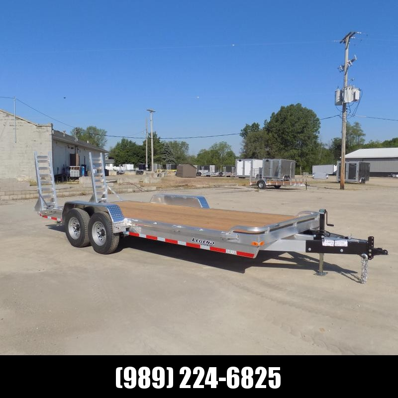 New Legend 7' x 20' Aluminum Equipment Trailer For Sale - 12K Payload - $0 Down & Payments from $117/mo. W.A.C