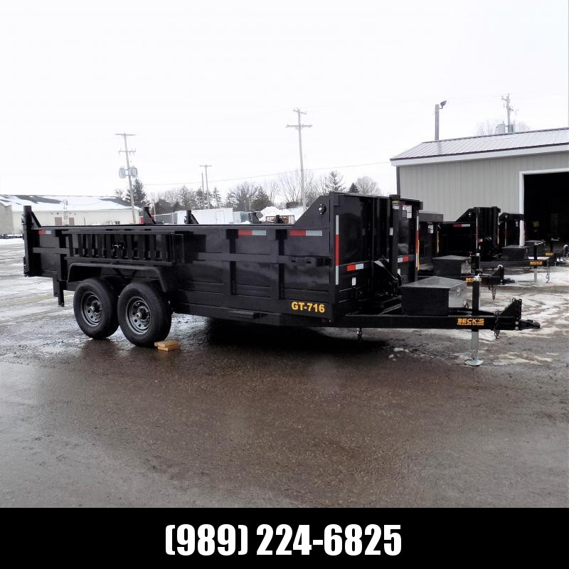 New DuraDump 7' x 16' Dump Trailer With Telescopic Lift - $0 Down & Payments From $135/mo. W.A.C.