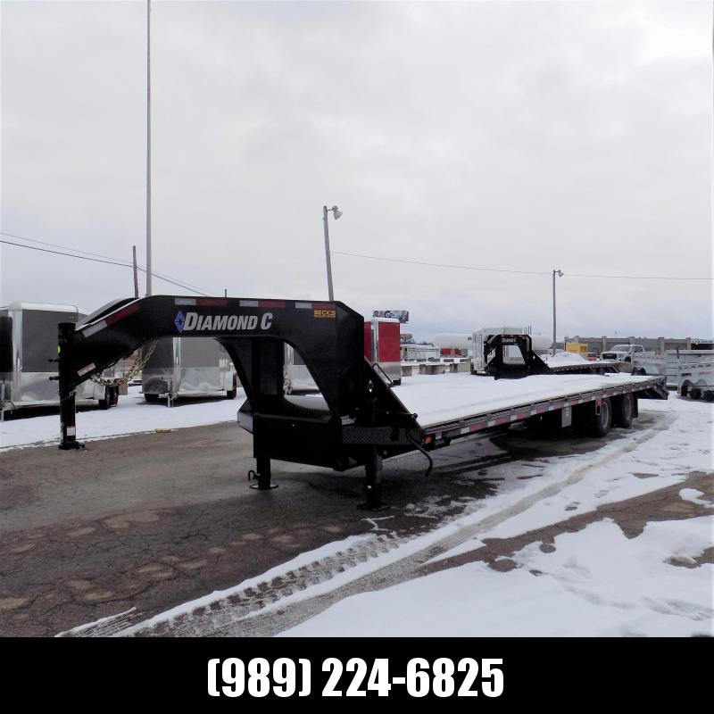 """New Diamond C Trailers 102"""" x 35' Gooseneck Equipment Trailer - 25K Weight Rating - Flexible $0 Down Financing Available"""