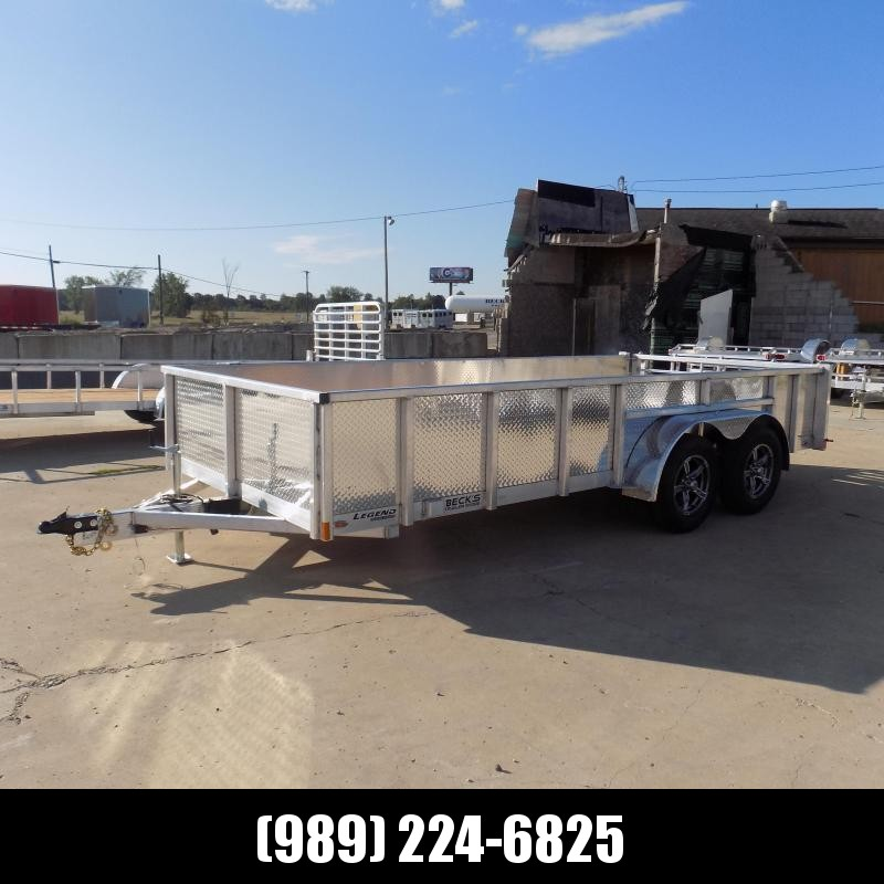 New Legend 7' x 16' Open Aluminum Equipment Trailer For Sale - $0 Down & Payments from $125/mo. W.A.C