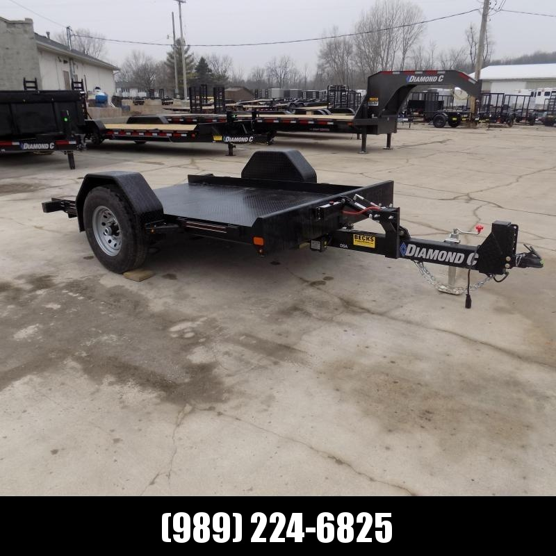 "New Diamond C Trailers 77"" x 10' Scissor Lift Tilt Deck Trailer For Sale - $0 Down & $87/mo. W.A.C."