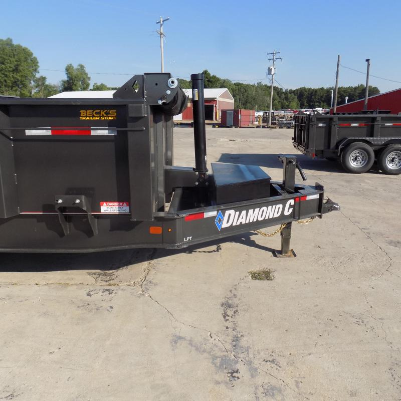 "New Diamond C Trailers 82"" x 14' Low Profile Dump W/ Telescopic Lift & 10K Torsion Axles - $0 Down Financing Available"