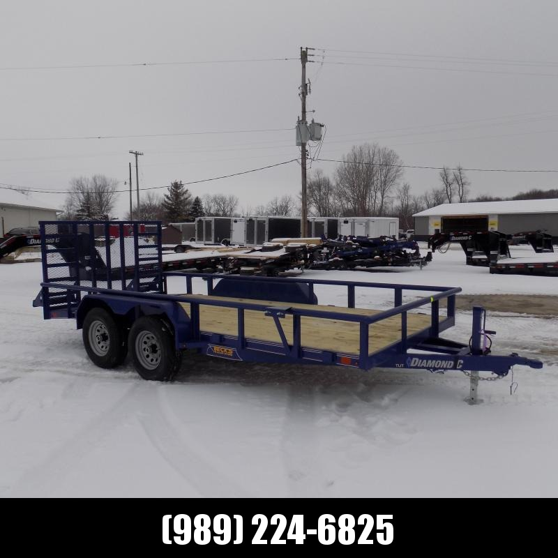 New Diamond C Trailers 7' x 16' Heavy Duty Utility Trailers - 5200# Axles - $0 Down & Payments From $117/mo. W.A.C.