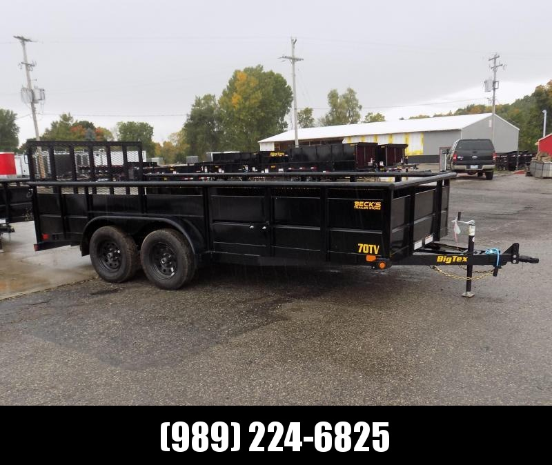 New Big Tex 7' x 16' High Side Utility Trailer for Sale - $o Down & $99/mo. W.A.C.