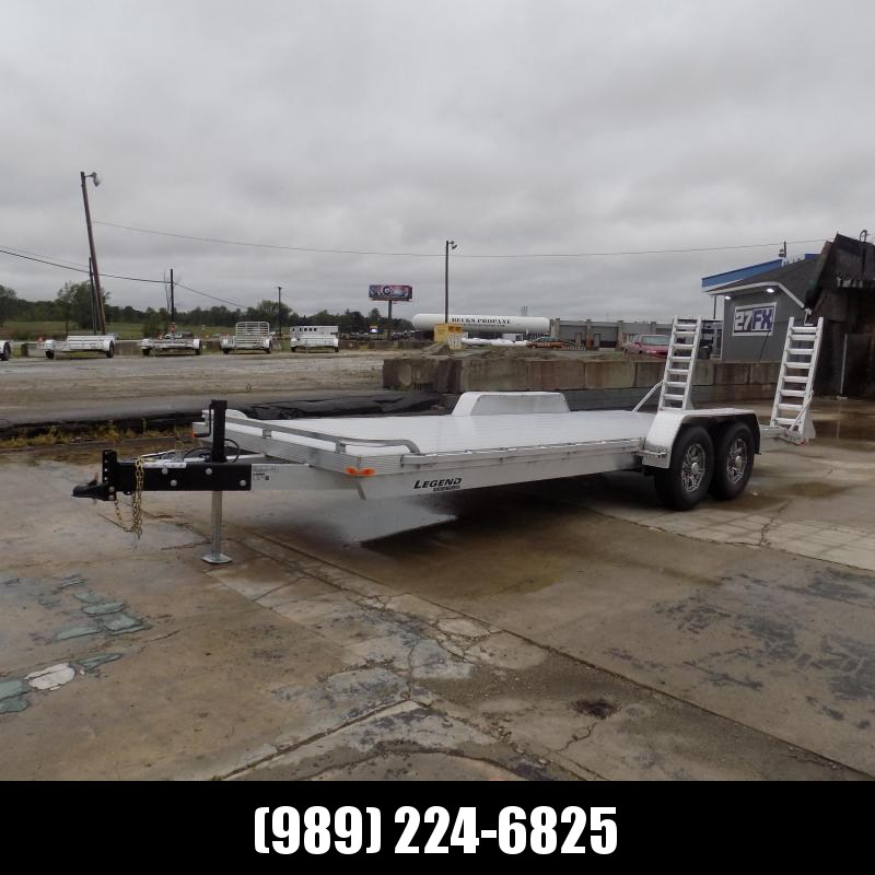 New Legend 7' x 22' Aluminum Equipment Trailer With 6000# Torsion Axles - $0 Down & Payments from $139/mo. W.A.C