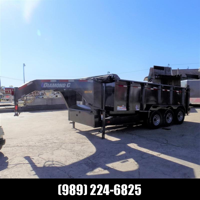 "New Diamond C 82"" x 16' Low Pro Gooseneck Dump Trailer W/ 19.5K Payload - $0 Down Financing Available"