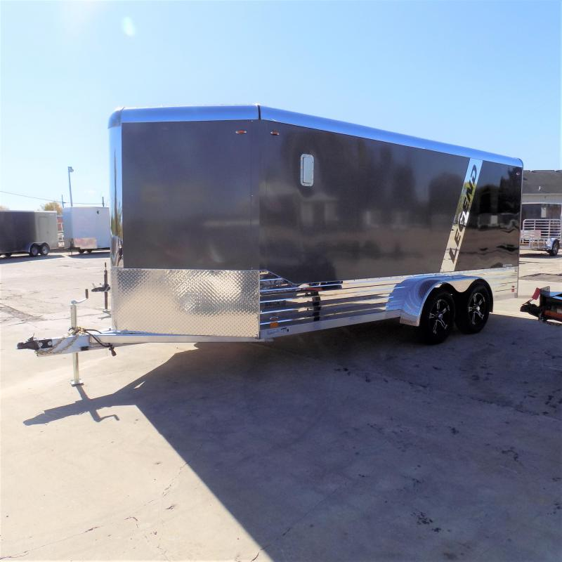 New Legend Deluxe V Nose 7' X 19' All Aluminum Cargo Trailer - $0 Down & Payments from $133/mo. W.A.C.