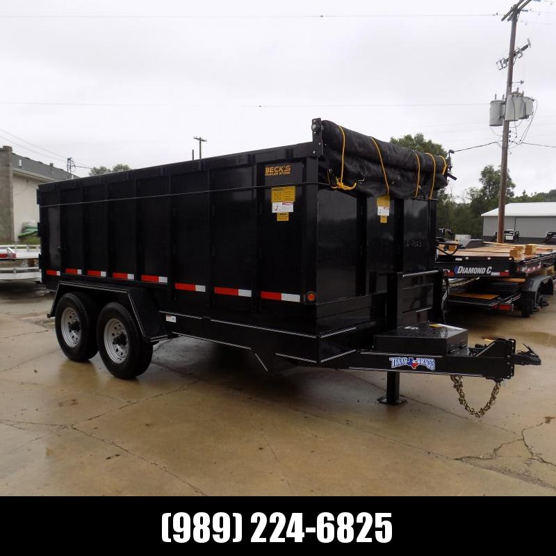 """New Texas Bragg 83"""" x 14' Dump Trailer for Sale - 48"""" Sides - $0 Down & Flexible Financing Options Available"""