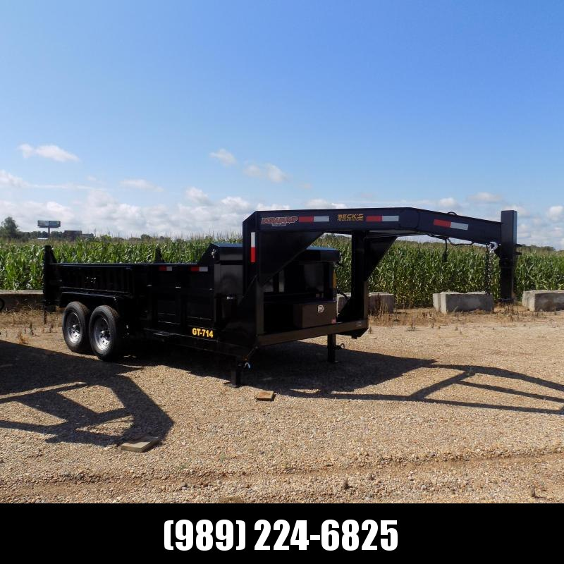 New DuraDump 7' x 14' Gooseneck Dump Trailer For Sale - $0 Down & Payments From $129/mo. W.A.C.