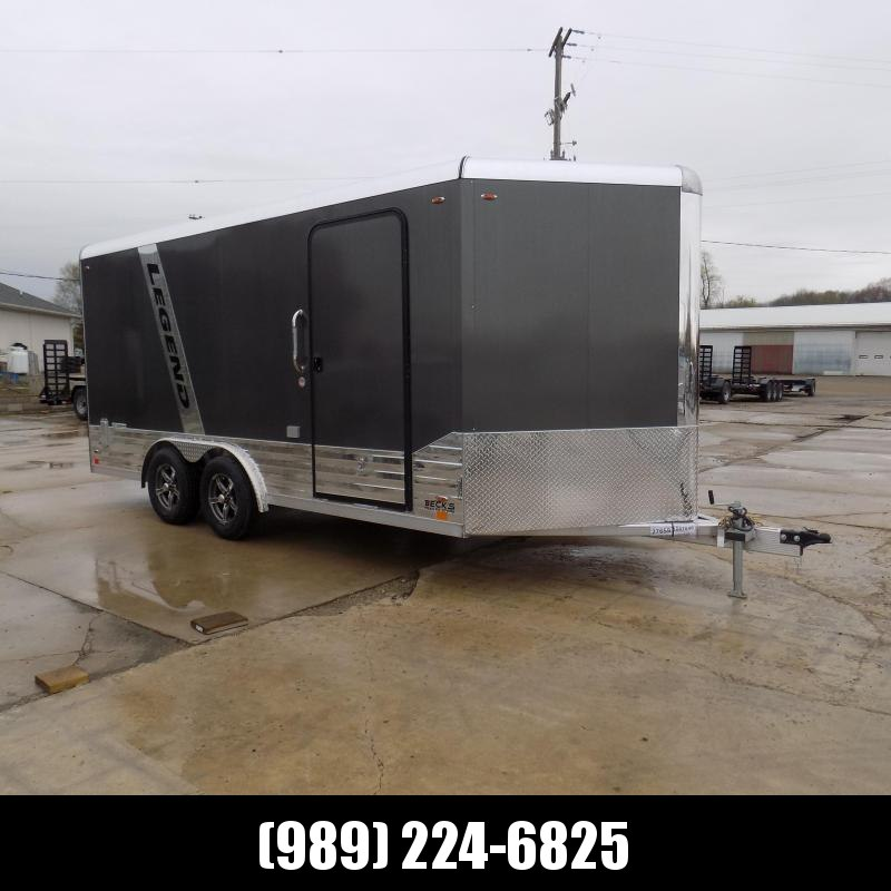 New Legend Deluxe V-Nose 8' x 19' Aluminum Enclosed Cargo Trailer - $0 Down & $149/mo. W.A.C.