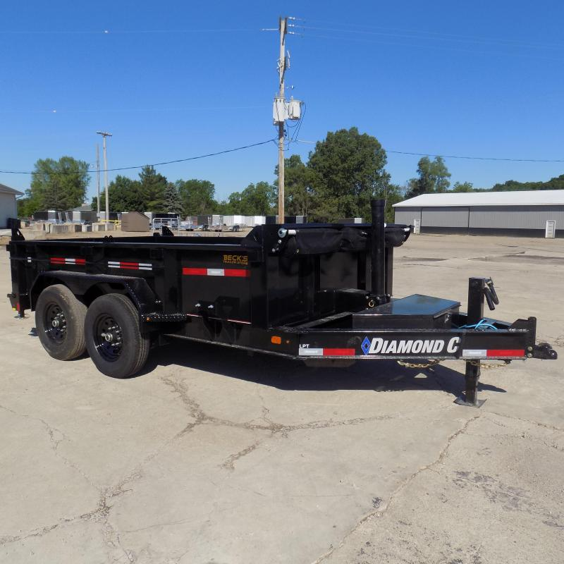 """New Diamond C 82"""" x 12' Low Profile Dump Trailer - $0 Down & payments From $167/mo. W.A.C."""