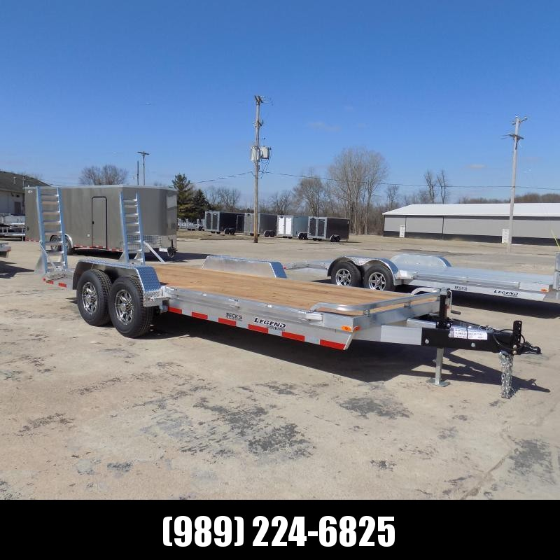 New Legend 7' x 18' Aluminum Equipment Trailer For Sale - 12K Payload - $0 Down & Payments from $137/mo. W.A.C
