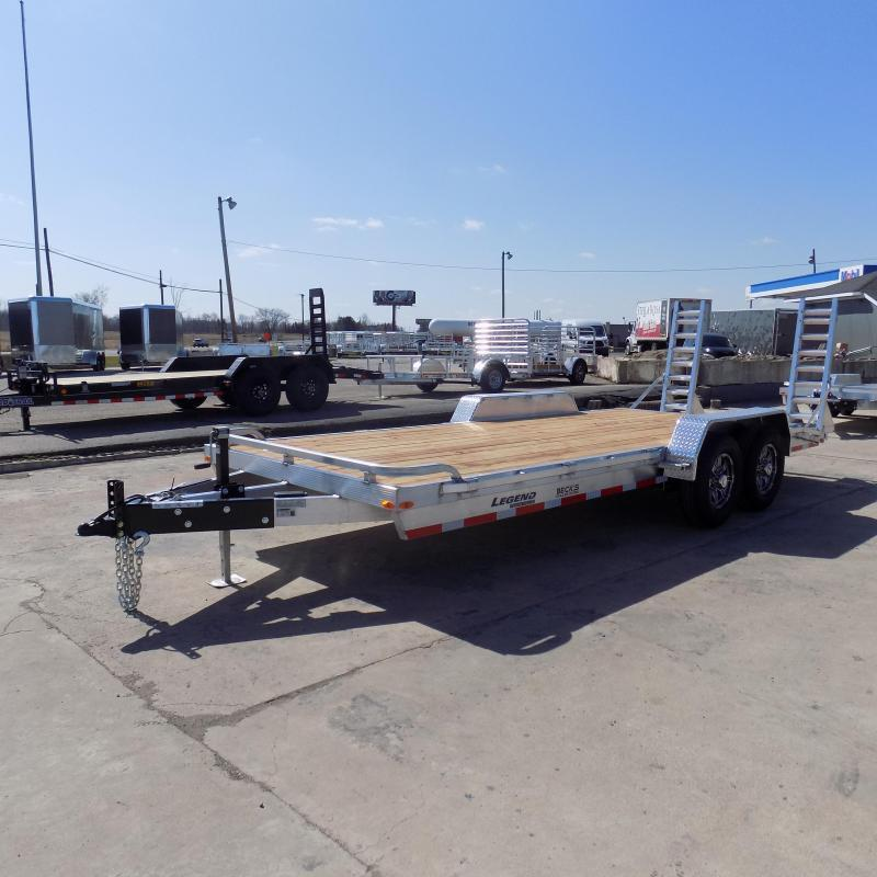New Legend 7' x 18' Aluminum Equipment Trailer For Sale - 12K Payload - $0 Down & Payments from $117/mo. W.A.C