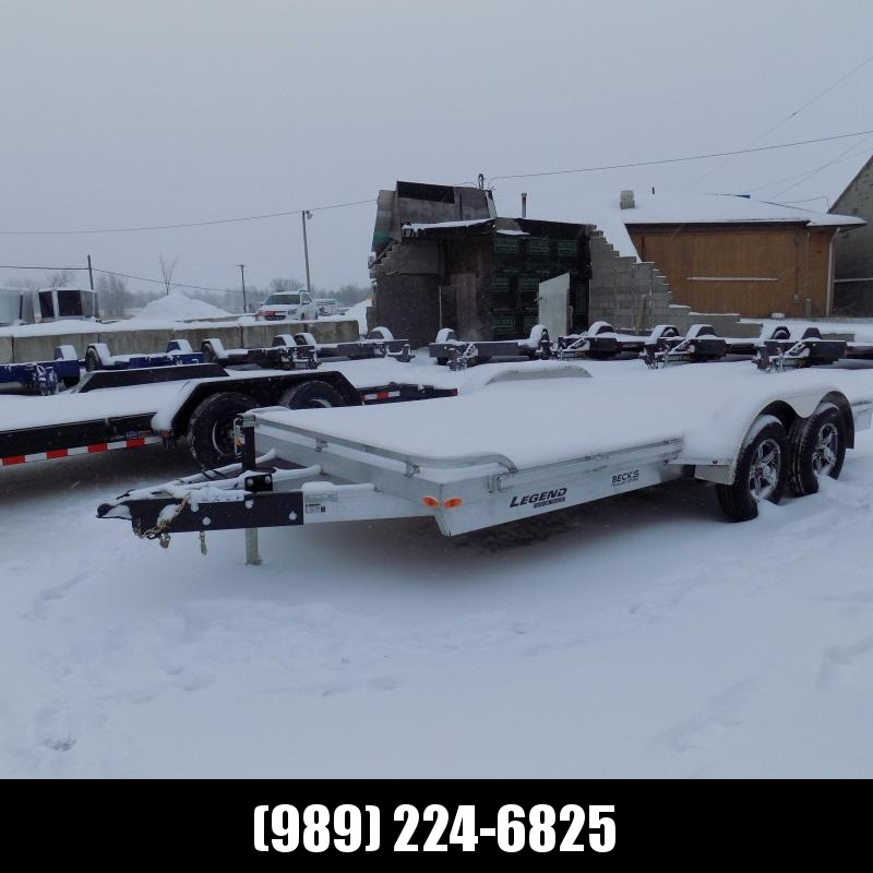 New Legend 7' x 16' Aluminum Open Car Hauler - Torsion Axles - $0 Down & Payments From $127/mo. W.A.C.