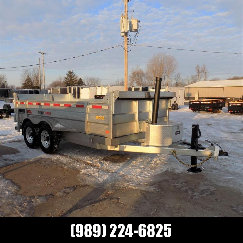 "New Galvanized 7"" x 14' Dump Trailer with 24K Telescopic Lift - $0 Down & Payments From $157/mo. W.A.C."