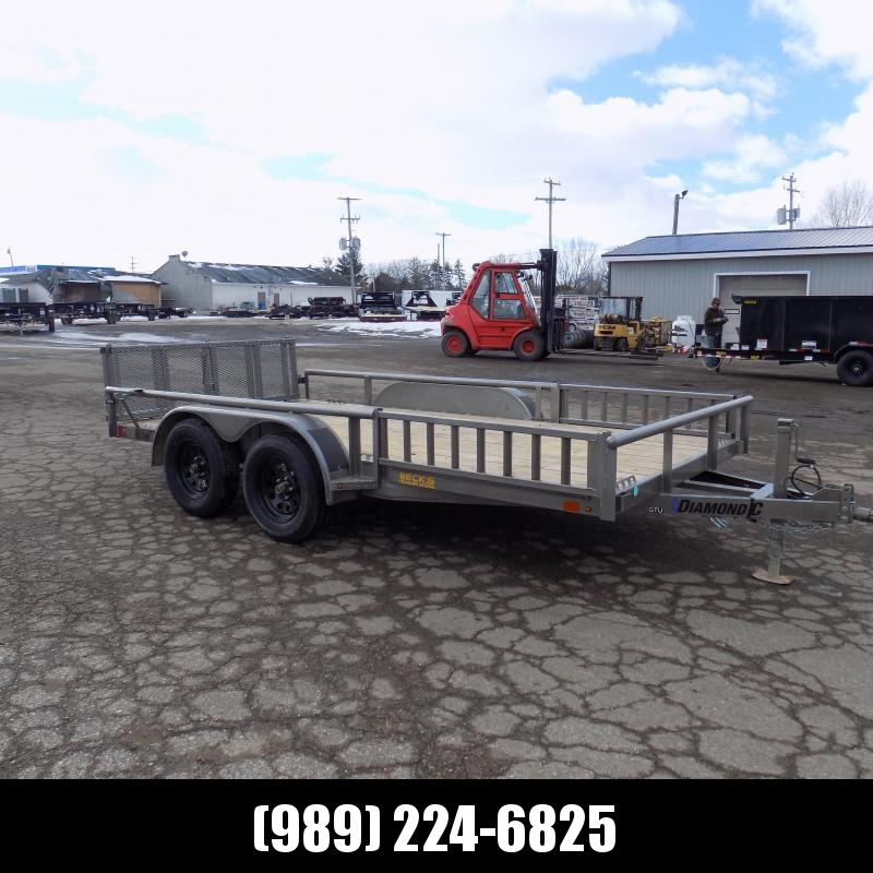 New Diamond C Trailers 7' x 14' Tandem Axle Utility Trailer With Bi-Fold Gate - $0 Down & $95/mo. W.A.C.