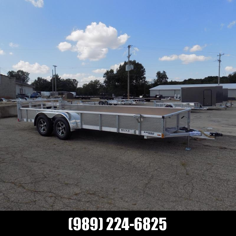 New Legend 7' x 18' Open Aluminum Equipment Trailer For Sale - $0 Down & Payments from $123/mo. W.A.C