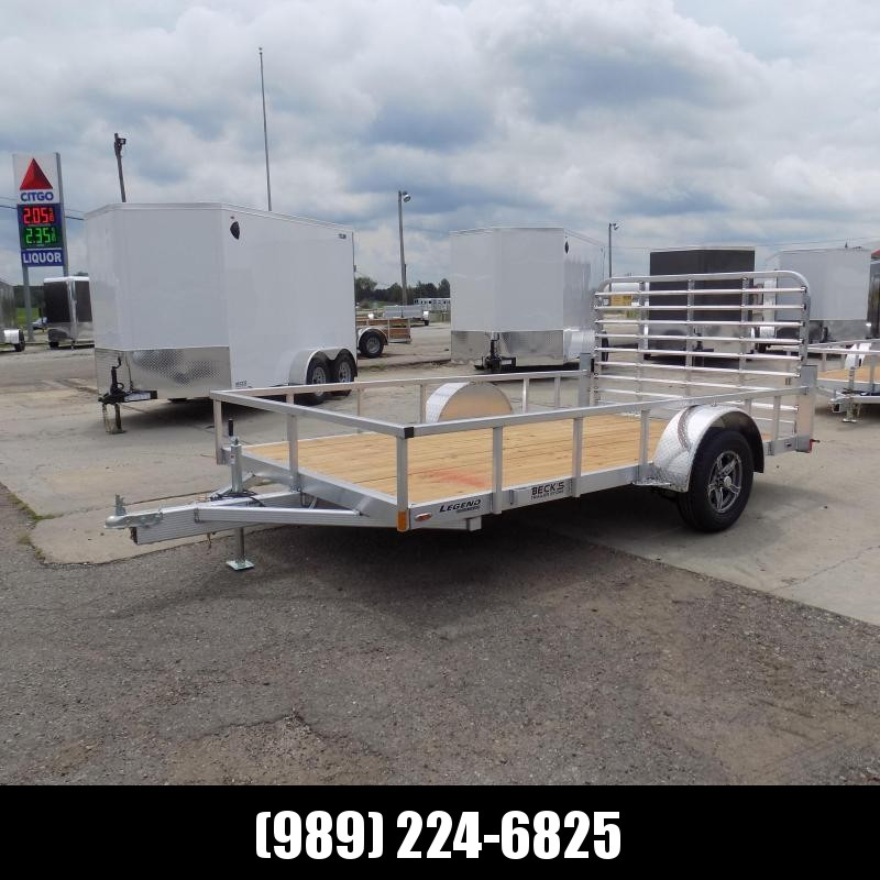 New Legend Open Deluxe 7' x 12' Aluminum Utility Trailer - $0 Down & Payments From $69/mo. W.A.C.