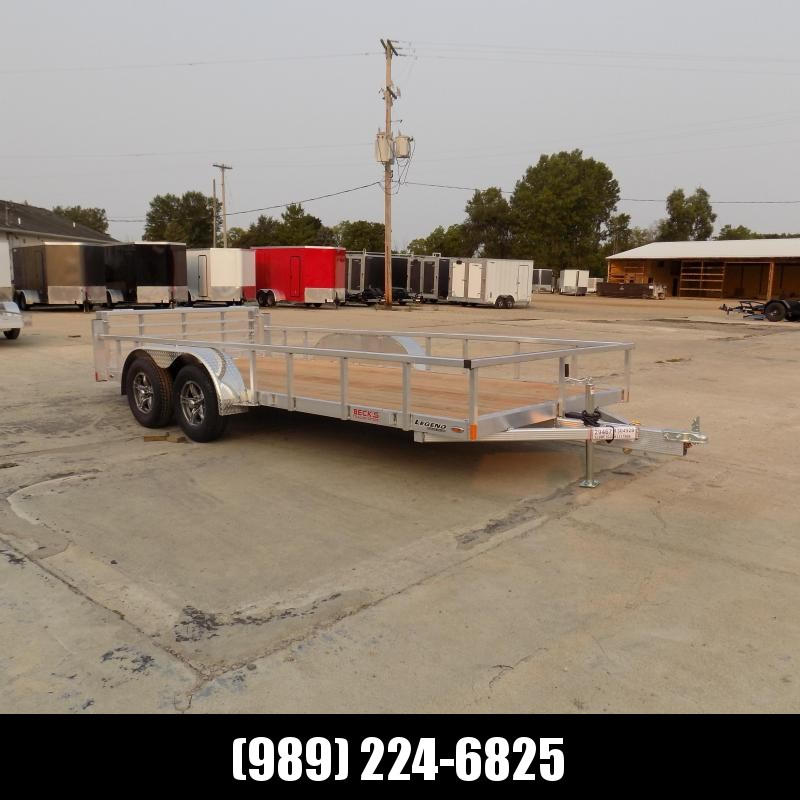 New Legend Open Deluxe 7' x 16' Aluminum Utility Trailer - $0 Down & Payments From $109/mo. W.A.C.