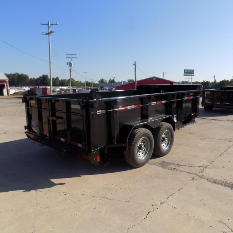 """New Diamond C Trailers 82"""" x 14' Low Profile Dump W/ Telescopic Lift - Payments from $145/mo. with $0 Down W.A.C."""