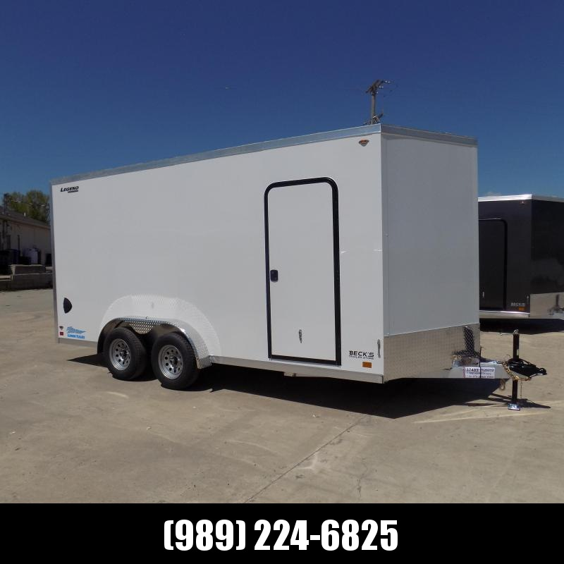 New Legend Thunder 7.5' x 18' Aluminum Enclosed Cargo -7.5' Wide & No Interior Wheel Wells! $0 Down & Payments From $113/Mo W.A.C