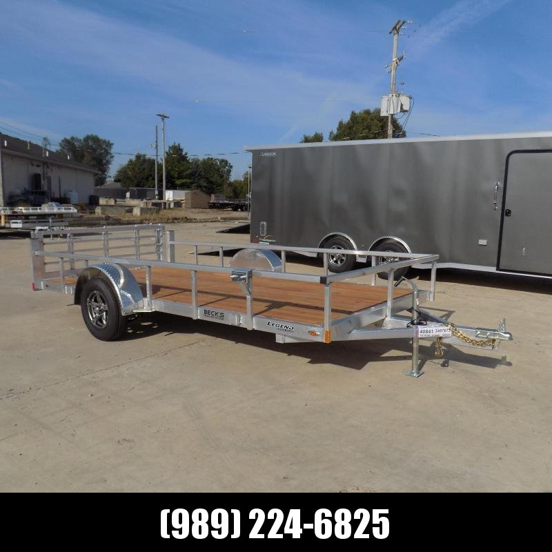 New Legend Open Deluxe 7' x 14' Aluminum Utility - Torsion Axle - $0 Down & Payments From $109/mo. W.A.C.