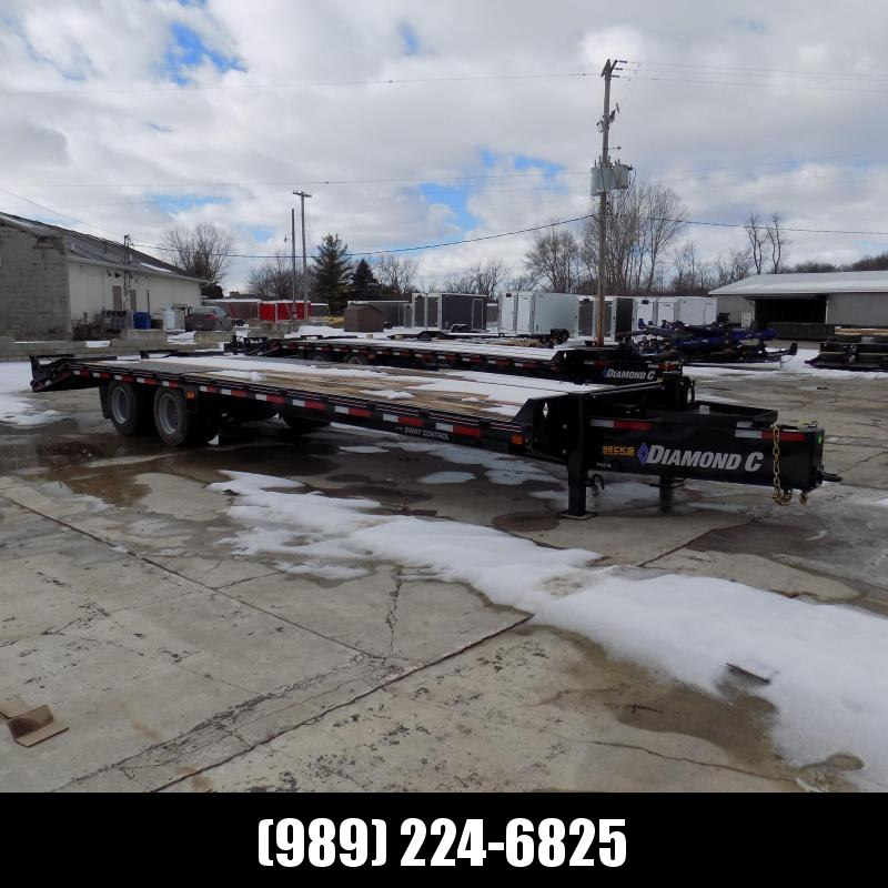 "New Diamond C Trailers PX216 102"" x 30' Equipment Trailer w/ Pintle Hitch and 30K Weight Rating - Flexible $0 Down Financing Options Available"