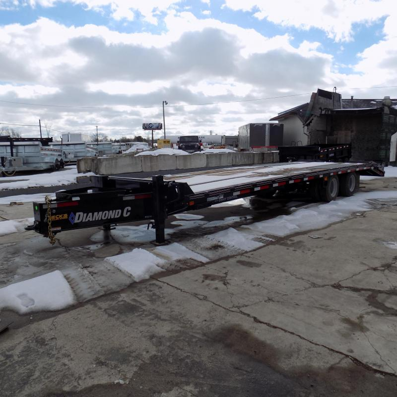 """New Diamond C Trailers PX216 102"""" x 30' Equipment Trailer w/ Pintle Hitch and 30K Weight Rating - Flexible $0 Down Financing Options Available"""