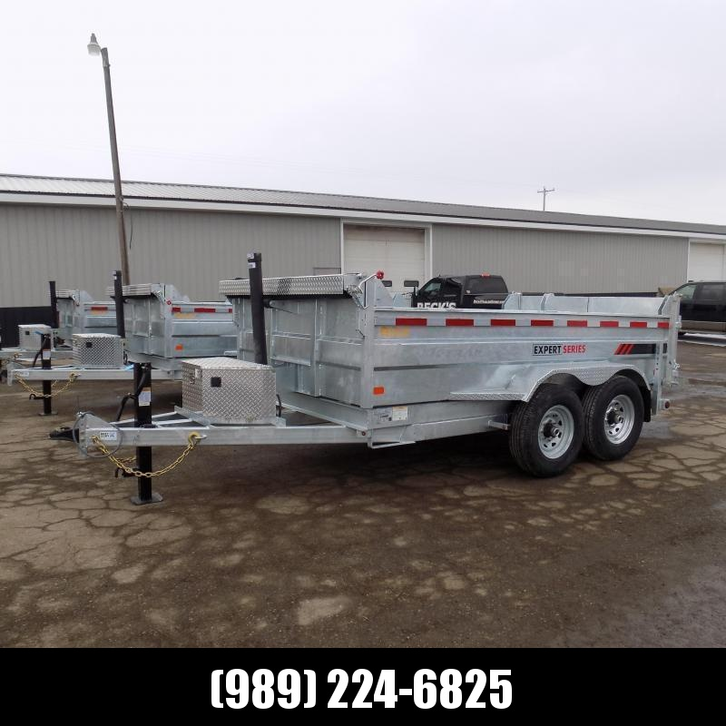 New Galvanized 7 x 12' Dump Trailer with Telescopic Lift - Corrosion Resistant - $0 Down & Payments From $139/mo. W.A.C.
