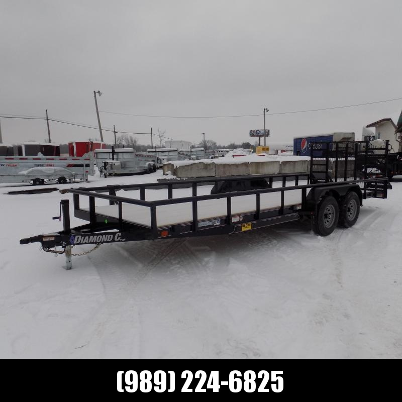 New Diamond C Trailers 7' x 22' Heavy Duty Utility Trailers - 5200# Axles - $0 Down & Payments From $121/mo. W.A.C.