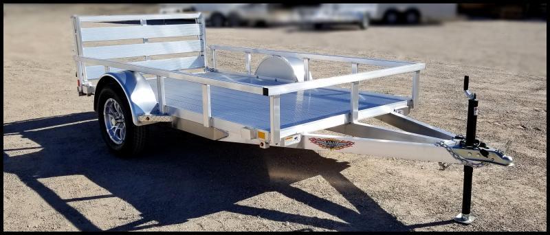 2020 H and H Trailer 5.5(66)x10 Aluminum Railside Utility Flatbed Trailer