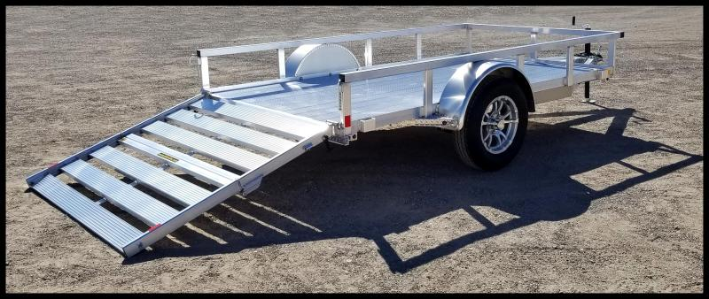 2020 H and H Trailer 5.5(66)x10 Aluminum Railside Utility Flatbed Trailer