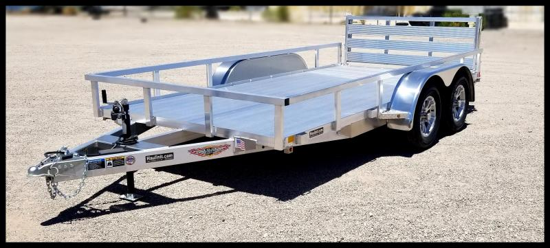 2020 H and H Trailer 8.5(82)X14 TANDEM RAILSIDE ALUM 7K