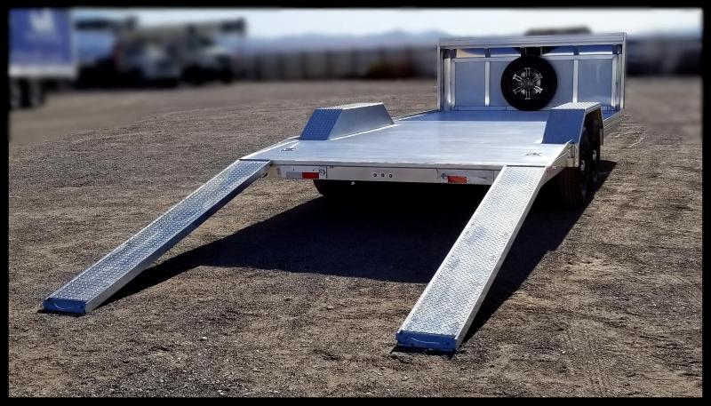 2020 Sundowner Trailers 102 x 20 Aluminum Car Hauler Flatbed Trailer