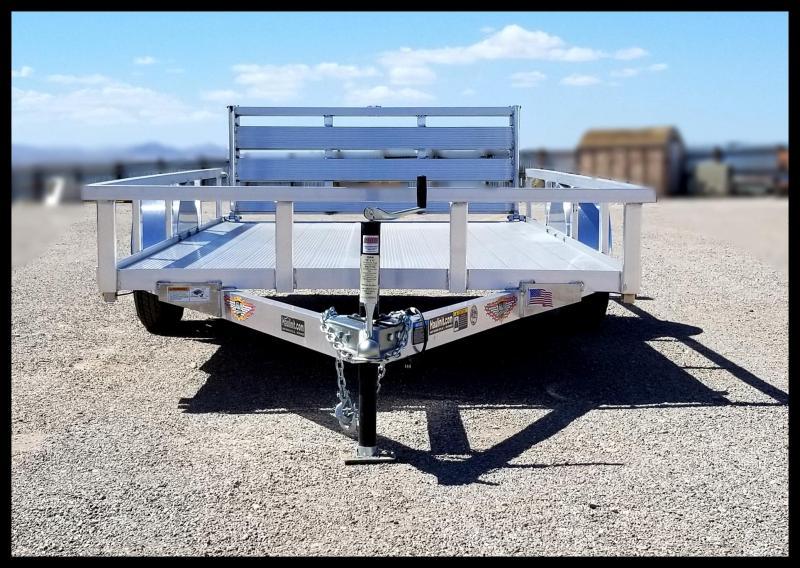 2019 H & H Trailers 76 x 12 Aluminum Single Axle Utility Trailer