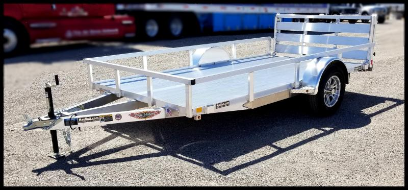 2019 H & H Trailers 76 x 12 Aluminum Single Axle Utility Trailer