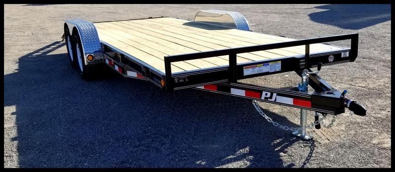2020 PJ Trailers PJ 83 x 18' Car Hauler Flatbed Trailer