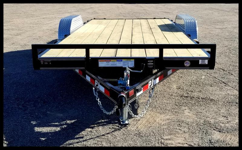 2020 PJ Trailers PJ 83 x 18' Car Hauler Flatbed Trailer