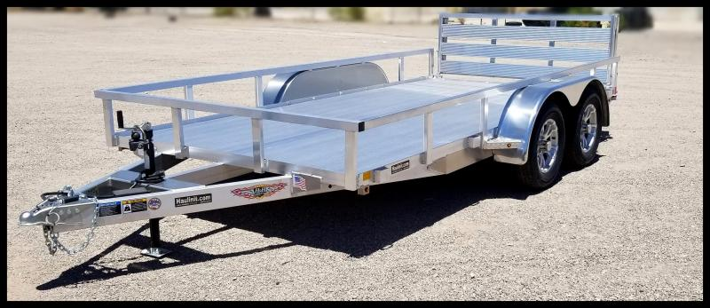 2020 H and H Trailer 8.5(82)X16  TANDEM RAILSIDE ALUM 7K