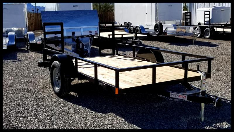 2020 Innovative 77 x 10 Single Axle Utility Trailer