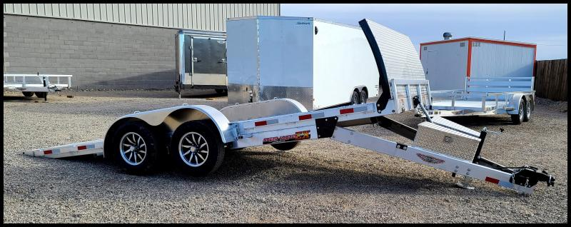 2021 H and H Trailer 82x18 Aluminum Electric Tilt Low Profile