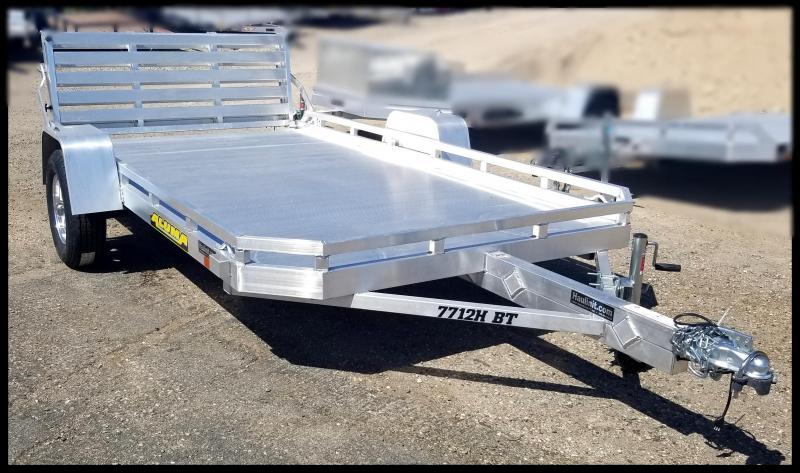 2020 Aluma Aluma 77 x 12 Aluminum Flatbed Trailer Utility Trailer