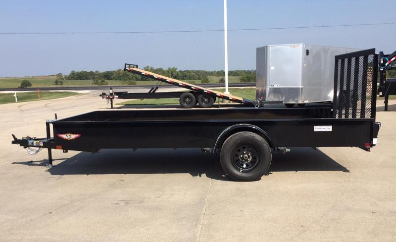 2021 H&H 14' Solid Side Utility Trailer
