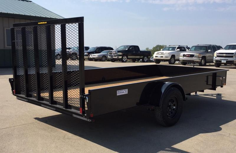 2020 H&H 14' Solid Side Utility Trailer