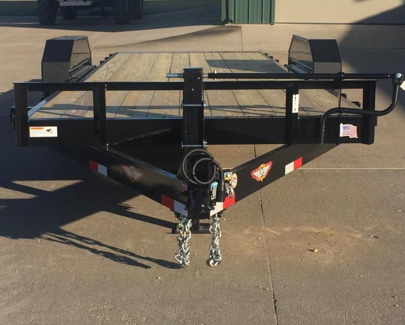 2021 H & H Trailers 22' Gravity Tilt Equipment Trailer
