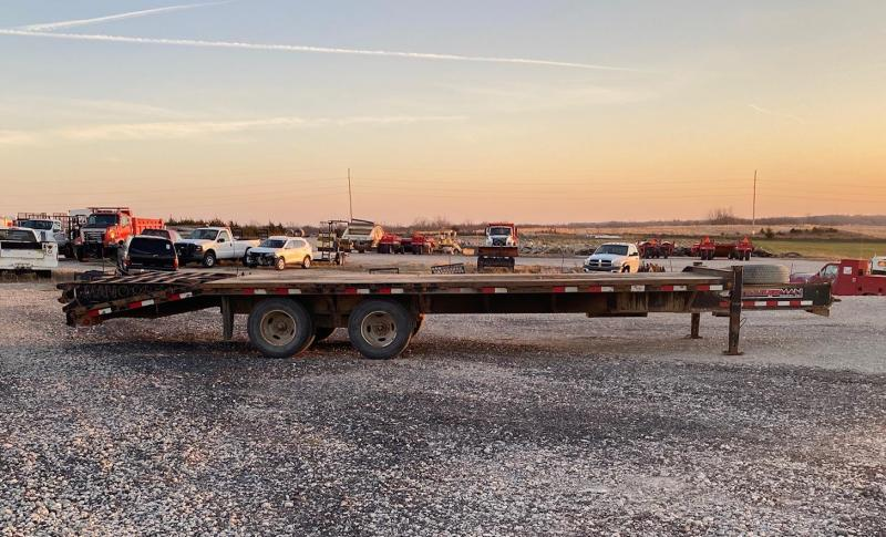 2014 Trailerman Trailers Inc. Pintle Hitch Tandem Dual Flatbed Trailer