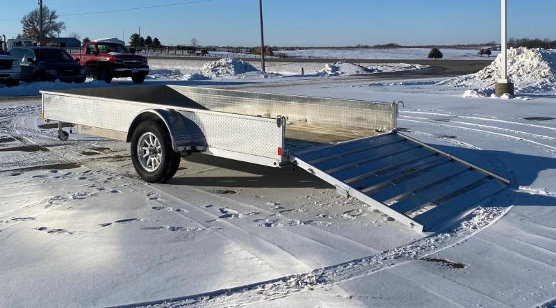 2021 H and H Trailer 14' Solid Side Aluminum Utility Trailer