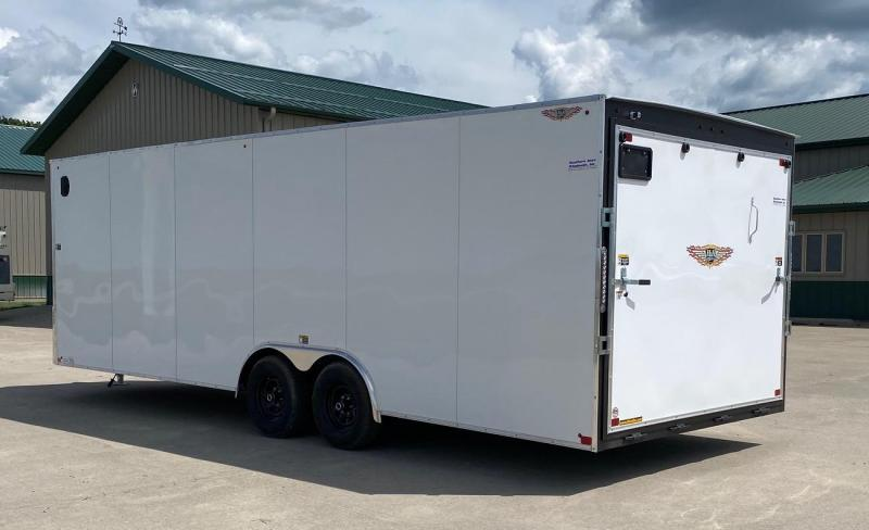"""2021 H and H Trailer 101""""x24' Enclosed Cargo / Car Trailer"""