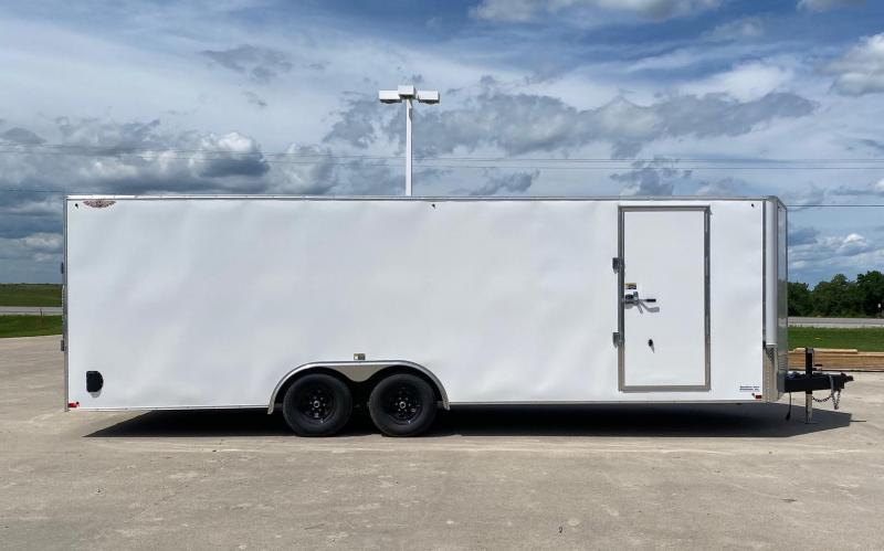 "2021 H and H Trailer 101""x24' Enclosed Cargo / Car Trailer"